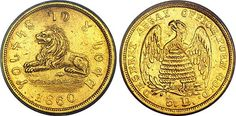 Mormon coin. This coin is called the 'Lion and the Beehive' coin.