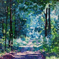 'Memories of the Summer' acrylic on canvas 60x60cm, Ewa Adams