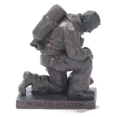 Dicksons Inc Praying Firefighter Figurine Tree Sculpture, Abstract Sculpture, Lion Sculpture, Soldiers Prayer, Firefighter Decor, Crestview Collection, Balloon Dog, Elephant Figurines, Metal Tree