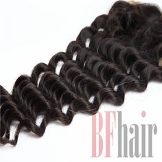 BF Hair Gold Lace Top Closure Swiss Lace 4*4 Deep Curly Wave Virgin Human Hair…