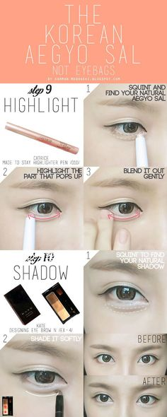 How To: Koreanisches Ulzzang / Uljjang Make Up (Fort Aegyo Sal) Lidschatten Korean Makeup Look, Korean Makeup Tips, Korean Makeup Tutorials, Ulzzang Makeup Tutorial, Korean Beauty Tips, Eyeshadow Tutorials, Asian Beauty, Kpop Beauty Tips, Korean Makeup Tutorial Natural