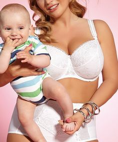 b982821201 Kris Line White Brilliant Full-Fit Nursing Bra - Plus Too