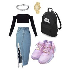 A fashion look from March 2018 featuring long sleeve tops, knee length denim skirt and gothic backpack. Browse and shop related looks. Denim Skirt, Long Sleeve Tops, Babe, Fashion Looks, Michael Kors, Crop Tops, Shoe Bag, Skirts, Polyvore