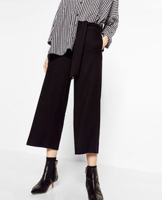 Image 2 of CROPPED TROUSERS WITH TIE from Zara