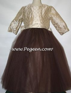 Ballerina style FLOWER GIRL DRESSES with layers and layers of tulle - also available in over 200 colors of silk.  From Pegeen Couture - Style 402 in infants through plus sizes