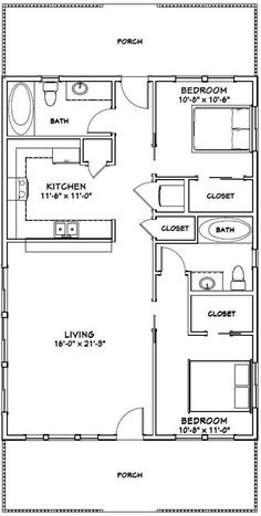 601 square foot PDF /& DWG Files 1 Bed 1 Bath House Design Plans For Sale Instant Download