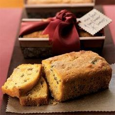 Mini Fruit and Sunflower Loaves | MyRecipes.com.  I think I'd like apples in here - and no orange peel.