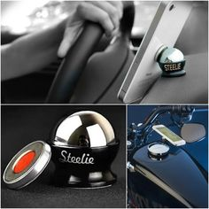 The Nite Ize Steelie Car Mount Kit allows secure attachment for any phone, with or without a case, to any vehicle dash with unlimited viewing angles.