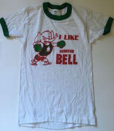 Vtg Childrens Large Ringer Tee I Like Senator Bell Boxing Elephant Republican | eBay #vintage #ringertee #senator #pennsylvania #upland #tshirt #vintagekidsclothes #vintagetee