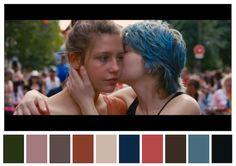 A conta no Twitter Cinema Palettes traduz cenas icônicas do cinema em paletas de cores de dez peças.