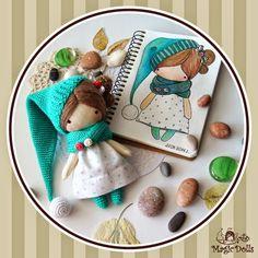 Fab Design on Adorable Crochet Amigurumi Magic Dolls | www.FabArtDIY.com LIKE Us on Facebook ==> https://www.facebook.com/FabArtDIY