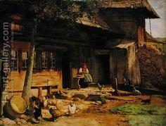 The-Parental-Home-In-Bernau,-1866.j Hans Thoma