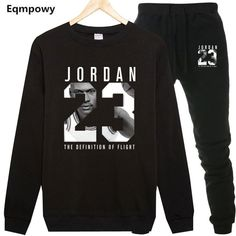 dbd5d2bbcedf Casual Tracksuit Men Jordan Sweatshirts Slim Men Set Pants Suits Solid Long  Sleeved Male Clothing Hoodie+Pants Men Sportswear