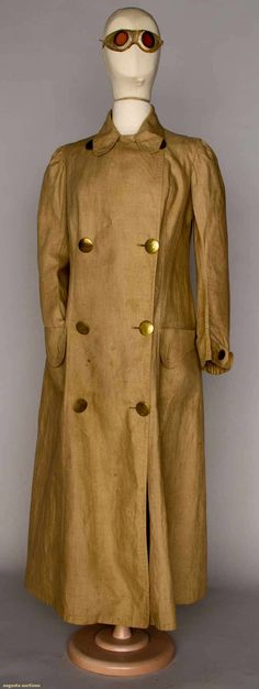 Augusta Auctions   WOMAN'S MOTORING COAT & GOGGLES, c. 1905  Lot: 184  November 14, 2012 NEW YORK CITY