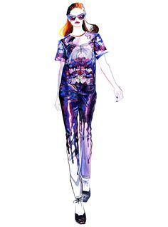 Piste Fashion Illustration Prabal Gurung par sunnygu sur Etsy