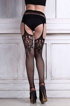 Coromose® Womens Sexy Lingerie Net Lace Garter Belt Thigh Stocking Pantyhose