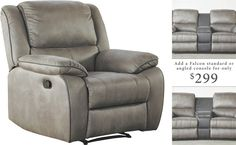 vienna 2 5 seater with 2 built in recliners graphite fabric by