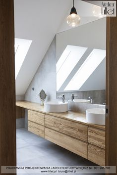 Loft Ensuite, Attic Bathroom, Upstairs Bathrooms, Attic Design, Interior Design, Reclaimed Wood Vanity, Loft Conversion Bedroom, Beautiful Bathrooms, Little Houses