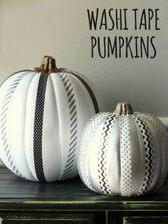 Decorar calabazas con washi tape #Halloween
