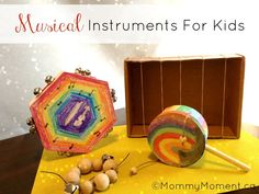#DIY musical instruments for kids.  I loved making instruments like these with my toddler class at church.