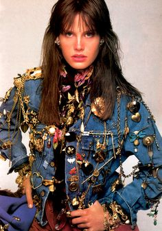 Steven Meisel for American Vogue, October 1986. Jacket by Guess.