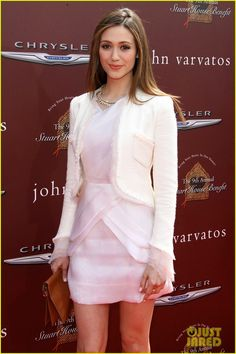 : Photo Emmy Rossum rocks a Katharine Kidd dress to the John Varvatos Stuart House Benefit held at John Varvatos Los Angeles on Sunday (March in West Hollywood, Calif. Emily Rossum, Organza Dress, Zoe Saldana, John Varvatos, Jessica Alba, Tweed Jacket, Red Carpet Fashion, Girl Crushes, Anna Kendrick
