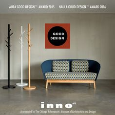 The internationally recognized GOOD DESIGN™ Award for Naula 2016 and Aura 2015
