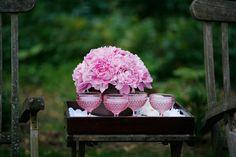 romantic spring wedding outdoor venue pink peony centerpieces signature cocktails