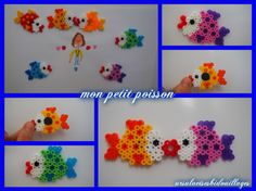 Mes petits poissons magnets - Ursula et ses bidouillages Ursula, Magnets, Crochet Necklace, Craft, Diy, Beads, Challenge, Easy Crafts, Hama Beads