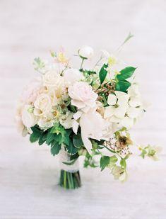 pale blush bouquet with dogwood | Jose Villa #wedding