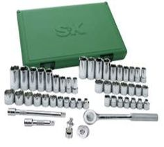 49 Piece Drive 6 Point Fractional/Metric Socket Set with Universal Joint Tools Equipment Hand Tools. S K Hand Tools. 49 Piece Drive 6 Point Fractional/Metric Socket Set with Universal Joint. Sk Tools, Hand Tools, Plastic Storage, Plastic Case, Metric Socket Set, Socket Wrench Set, Socket Organizer, Impact Socket Set, Universal Joint