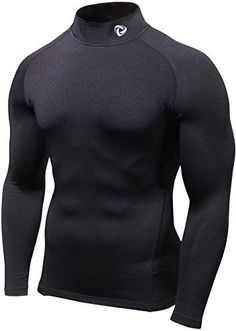 SSTMT11BLK_Small jM Tesla Mens Cool Dry Compression Baselayer Mock Long Sleeve T Shirts T11 >>> Details can be found by clicking on the image.
