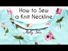 Sew T-Shirt Sew Knit Neckband - How to Finish Knit Necklines and Sew Knit Binding - Melly Sews - How to sew knit neckband and knit binding - 3 options to finish your knit neckline, including photo tutorial and video tutorial Sewing Shirts, Sewing Clothes, Techniques Couture, Sewing Techniques, Sewing Hacks, Sewing Tutorials, Sewing Tips, Sewing Ideas, Learn Sewing