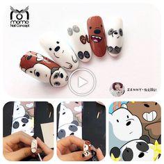 Cartoon Nail Designs, Nail Art Designs Videos, Nail Art Videos, Cute Nail Art, Beautiful Nail Art, Cute Nails, Pretty Nails, Nail Art Dessin, Anime Nails