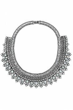 Glass, Hematite & Mixed Metal Bib Necklace | Palladian Necklace | Stella & Dot
