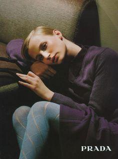 Prada Fall/Winter 1996 campaign image with Esther de Jong