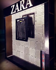 ZARA window display created by the use of egg trays!