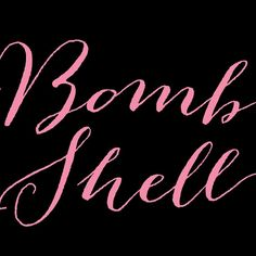 Bombshell Font by Emily Lime ... Only 10 bucks for a very limited time ! Don´t wait :))