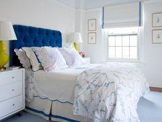 Girls room. Tufted velour head board. LillyBunn - desire to inspire - desiretoinspire.net