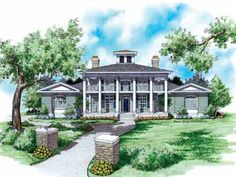Home Plans HOMEPW09011 - 4,091 Square Feet, 4 Bedroom 4 Bathroom Neoclassical Home with 3 Garage Bays
