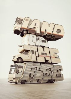Land of the free by Chris LaBrooy, via Behance