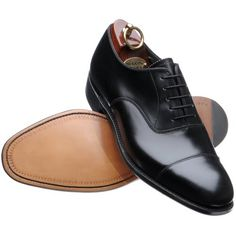5706ffbce8 Black Cap Toe Plain Tip Laceup Pure Brown Sole Oxford Pure Leather Shoe For  Men Shoes Handmade Upper Part made with Genuine Cow Leather Lining Made  with ...