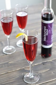the kir royale make a kir royale using blackcurrant liqueur it s a ...