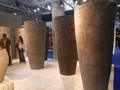 Atelier Vierkant gigantic planters at Maisons et Objets Shows, held outside of Paris, Villepinte.  http://fg-artdevivre.blogspot.com/2012/09/designthe-french-point-of-view.html