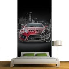 Sports car blueprint. Original car design. MaMurale.com