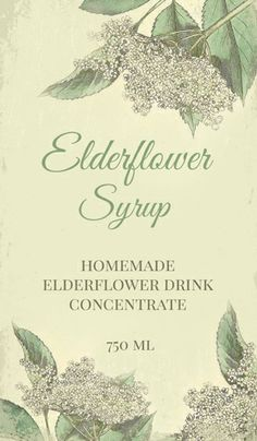 Label for Elderflowers Syrup