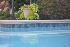 Classic pool tile stone spotswood new jersey 3x3 pool tile swimming pool ideas for Swimming pool depth marker tiles