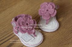 Crochet baby sandals gladiator sandals baby by editaedituke ♡♡