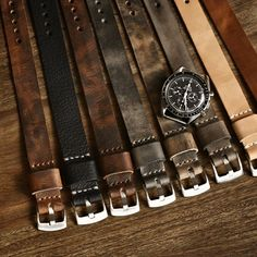 Our newest collection of Bas and Lokes handmade leather NATO straps. Seen here with my gorgeous Omega Speedmaster 3592.50. Straps Available at www.BasAndLokes.com