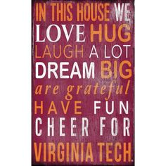 Virginia Tech In This House Wall Decor – babyfans